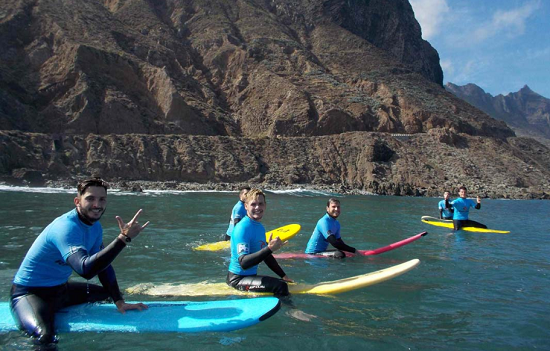 Taking Surf lessons in Tenerife