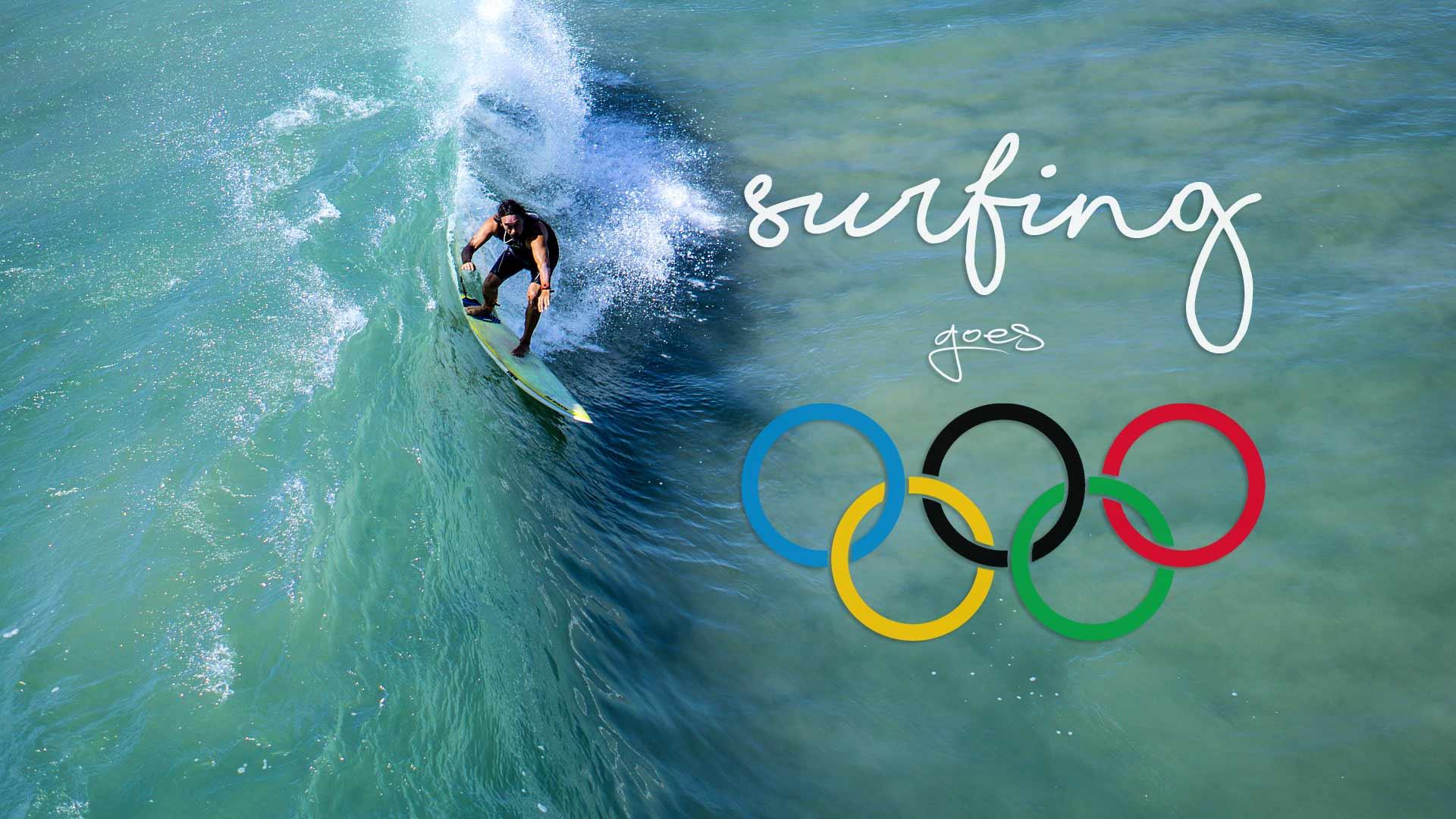 surfen wird Olympisch bei den olympischen Spielen 2020 in Tokio